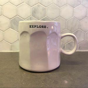 """3/$30 Rae Dunn Typewriter Font Mug """"EXPLORE"""""""
